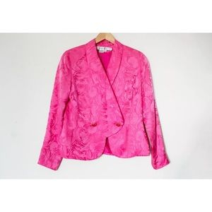 Anne Crimmins | Vintage 80's Pink Floral Blazer